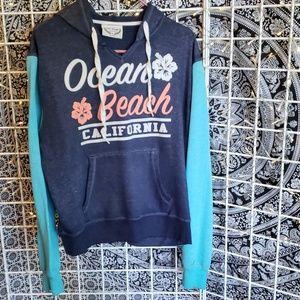 Lindsey A Lindsey Tops - Ocean beach Hoodie